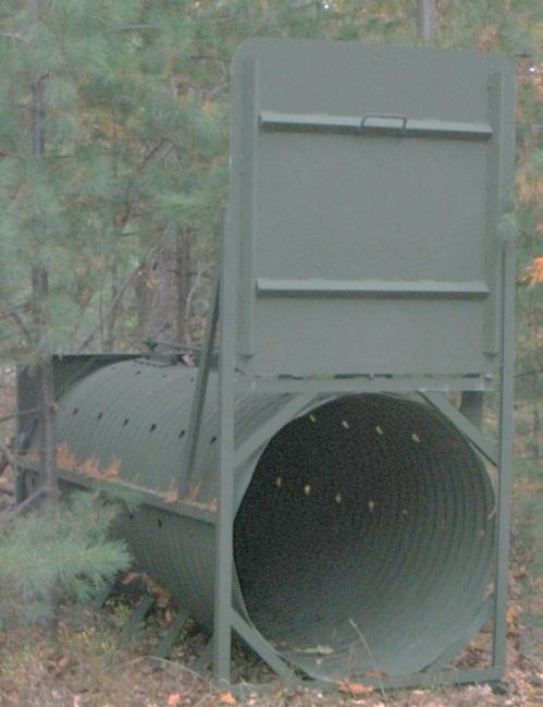 Figure 8. Culvert trap for bears. Photo by Paul D. Curtis.