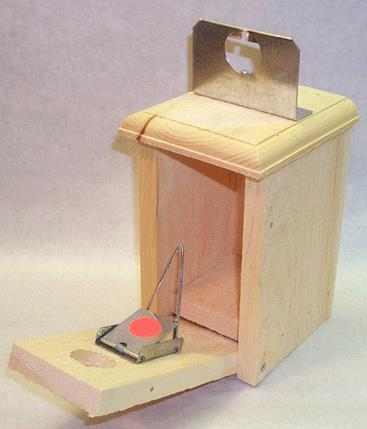 Figure 14. Bird house English sparrow trap. Photo by Wildlife Control Supplies, LLC.